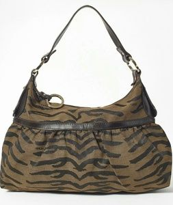 Auth Large FENDI chef bag zebra print